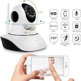 IP Camera For Home Office Store | Wireless Dome Pan/Tilt with 2-Way Audio and Motion Detection | 720p HD Wi-Fi Security Surveillance System | Night Vi