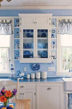OAK VIEW COTTAGE: Is Blue Your Color - Vintage & antique blue cottage home decor from #RubyLane /rubylanecom/ http://www.rubylane.com