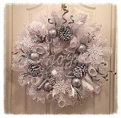Winter wonderland/pinecone wreath at https://www.etsy.com/listing/201756315