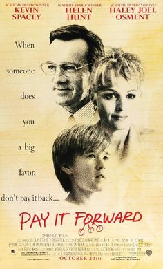 Pay It Forward (2000) Original One Sheet Movie Poster