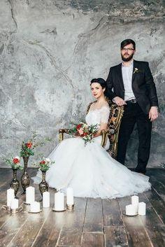 Фотосессия в студии. Жених и невеста