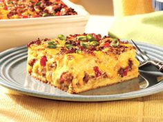 Easy Egg Casserole - Jimmy Dean.  I saw this recipe in my coupons this week.  Looks pretty good.  I would use my pastured pork sausage and eggs.  No Jimmy Dean with his MSG!
