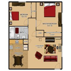 Exceptional 700 Sq Ft 2 Bedroom Floor Plan | Build Or Remodel Your Own House |  Architecture | Pinterest | Bedroom Floor Plans, Bedrooms And House