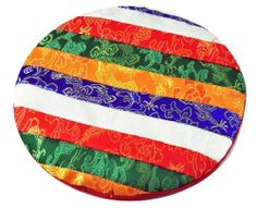 Tibetan Multi-Colored Singing Bowl Pad, Singing Bowl Pillow by Singing Bowl Shop. $9.99. This pad is 8 inches wide and it is made from satin material. This pad is 1/2 of an inch thick. This singing bowl pad is great for singing bowls up to 10 inches wide. This singing bowl pad was handmade in Nepal.