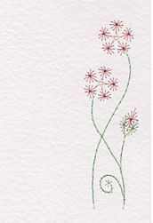 prick-n-stitch flower for paper