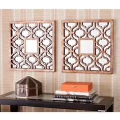 Upton Home Berendo Square Decorative Wall Mirror 2pc Set | Overstock.com  Shopping   The Best Deals On Mirrors
