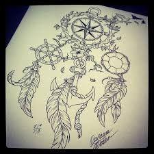 Image result for dream catcher compass tattoo