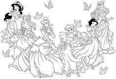 Princess Coloring Page Printable - princess coloring pages ...