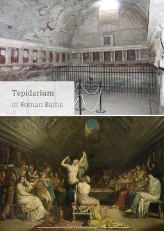 "Tepidarium (from the Latin adjective tepidus – ""moderately warm, lukewarm"") – warm room with heated floors and walls. The warmth of the tepidarium relaxed the human body and prepared it for the bathing procedures."