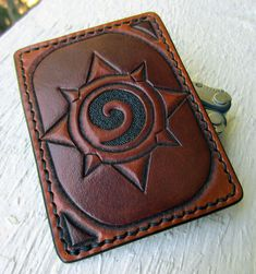 Hearthstone Leather Card Wallet by Kaje202   < I really love this design & tooling!