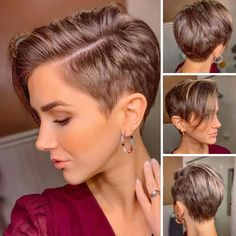 What ya think of this kind of Pixie . We posted each one as full size in our stories. Pixie Haircut Styles, Pixie Haircut For Thick Hair, Short Curly Haircuts, Haircuts For Fine Hair, Cut My Hair, Curly Pixie Cuts, Medium Short Hair, Short Hair Cuts For Women, Shot Hair Styles