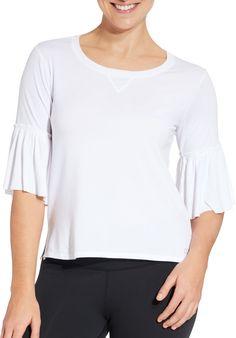 Calia by Carrie Underwood Women's Ruffle T-Shirt, Size: XS, Pure White Glen Oaks, Calia By Carrie, Gym Tops, Carrie Underwood, Pure Products, T Shirt, Shopping, Fashion, Supreme T Shirt