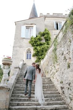 Intimate French Chateau Wedding Featuring A Beautiful Bride In A Jenny Packham Wedding Dress / photo by @Dasha Caffrey