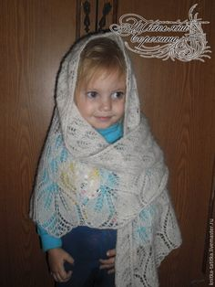 "Купить Шаль ""Харуни"" - белый, шаль, шаль спицами, шаль красивая, шаль Харуни, шальажурная"