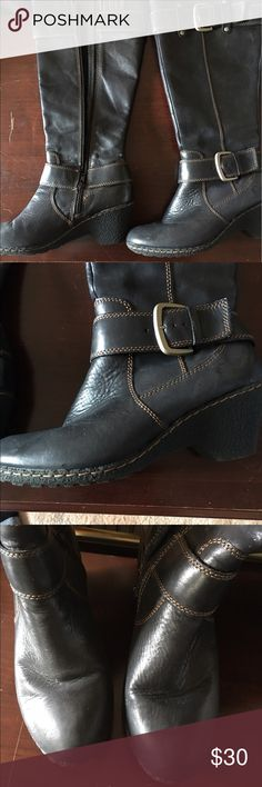 Fun winter boots by BOC Well worn winter boots being sold as is. They are super comfortable and well constructed. b.o.c. Shoes Combat & Moto Boots
