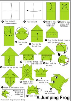 Origami Instructions for A Frog . 3 origami Instructions for A Frog . origami A Frog Instructions Easy origami Instructions Instruções Origami, Origami Tattoo, Cute Origami, Origami Ball, Origami Dragon, Origami Bookmark, Paper Crafts Origami, Useful Origami, Origami Design