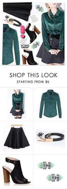 """""""black and petroleum green"""" by paculi ❤ liked on Polyvore featuring Kate Spade, Chanel, women's clothing, women, female, woman, misses, juniors, outfit and chic"""