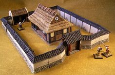 Sengoku period buildings Japanese Style House, Traditional Japanese House, Traditional House Plans, Wargaming Table, Wargaming Terrain, Japanese Buildings, Japanese Architecture, Sengoku Period, Luxury Modern Homes