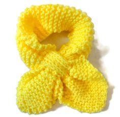Baby Knit Scarf Leaf Pattern Yellow by PreciousBowtique on Etsy, $8.25