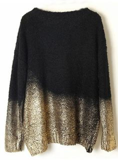 black batwing gold-dipped knit #winter #style