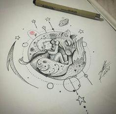 The little prince! Mini Tattoos, Body Art Tattoos, Small Tattoos, Sleeve Tattoos, Little Prince Tattoo, The Little Prince, Tattoo Sketches, Tattoo Drawings, Kadu Tattoo