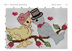 Wedding Cross Stitch, Mini Cross Stitch, Beaded Cross Stitch, Cross Stitch Animals, Cross Stitch Embroidery, Cross Stitch Designs, Cross Stitch Patterns, Knitting Patterns, Crochet Patterns