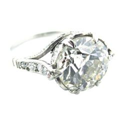 Edwardian 3.89 Carat Old European Cut Engagement ring