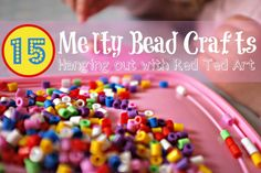 Melty (Perler) Bead Crafts - Pinned by @PediaStaff – Please Visit ht.ly/63sNtfor all our pediatric therapy pins