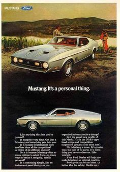 Ford Mustang Vintage Ad