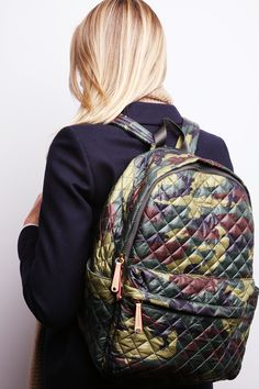 MZ Wallace Camo print Oxford Nylon Metro Backpack