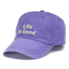 This ''Life is Good'' baseball hat keeps your style cool and collected. Better Baseball, Life Is Good, Bag Accessories, Your Style, Baseball Hats, Good Things, Workout, How To Wear, Bags