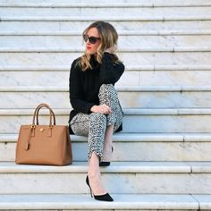 best pants for work, print pants, banana republic print work pants