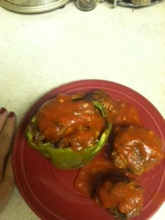 paleo stuffed peppers and meatballs! recipes on my blog about PCOS