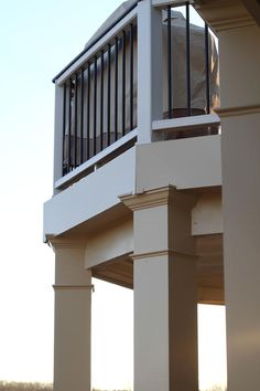 Trex composite deck with wrapped support posts. Trex Decking, Composite Decking, Before After Photo, Before And After Pictures, New Deck, Home Remodeling, Photo Galleries, Stairs, Backyard