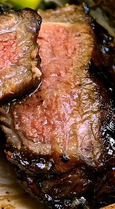 Garlic Balsamic Brown Sugar Steak - Wild Flour's Kitchen More                                                                                                                                                                                 More