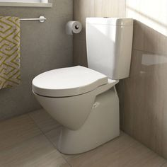 The Ancona Close Coupled Toilet with a Luxury Soft Close Seat