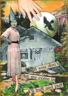 Let Me In  Watercolor/Collage Print by GerushiasWorld on Etsy, $14.00