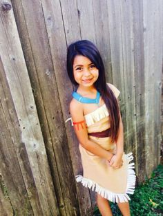 A Cute Pocahontas Costume For Girls
