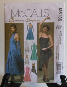 11121b12d1 Salsa Style Dress and Fingerless Gloves Sewing Pattern Sizes 4 6 8 10  McCall s Uncut Factory folded Envelope has wear and tears.
