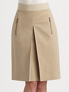 Akris Punto Inverted Pleat Skirt - The Best Floral Outfits Work Skirts, Cute Skirts, Mini Skirts, Types Of Pleats, Pleated Skirt, Dress Skirt, Classy Dress, African Dress, Skirt Outfits