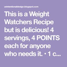 This is a Weight Watchers Recipe but is delicious! 4 servings, 4 POINTS each for anyone who needs it. • 1 can lower-fat cheddar cheese sou...