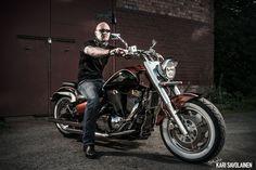 Photo by Kari Savolainen. Biker portrait.