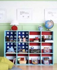 Creative patriotic decoration for shelves, decorating ideas for kids rooms
