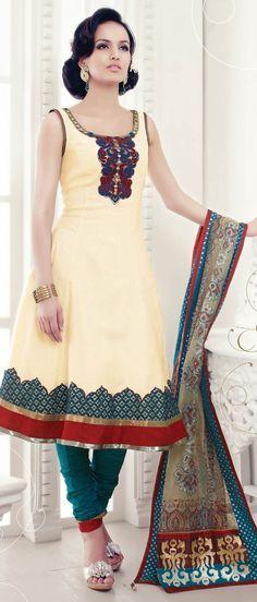 Light #yellow #Cotton #Churidar Kameez @ $ 85.98