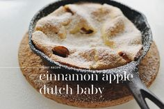 cinnamon apple dutch baby