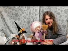 Bruna La Befana - YouTube Gnomes, Animals And Pets, Free Pattern, The Creator, Christmas Crafts, Projects To Try, Crafty, Dolls, Halloween