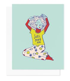 """You know what they say, go turtleneck or go home. - 4.25 x 5.5"""" card with white envelope (A2) - Full-color on white paper - Blank inside - Made in the USA - Ships in sturdy envelope Illustrated by Bec"""
