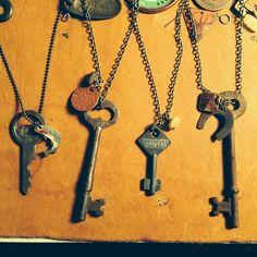 Keys please. #rustbeltamericana #rust #belt #america #vintage #junkyard #jewelry #necklace #skeletonkey #chicago #ford #ww2 #fish #antique #art