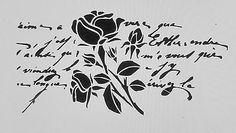 Shabby Schablone Brief Schrift Text Rose Wand Schrank Vintage