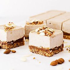 "This Easter-inspired vegan ""Cheesecake"" recipe ranks first on our all-time favourites list! It is sweet, salty, and it tastes like caramel cookies. What more could you hope for in a healthy plant-based treat?"